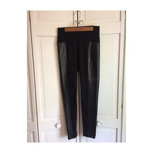 Old Navy Faux leather and cotton leggings